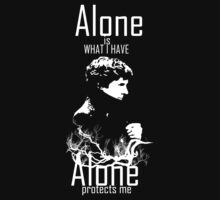 Sherlock : Alone is what I have Alone protects me Ver.2 by morigirl