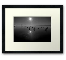 Salton Sea Reflecting Sun Framed Print