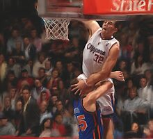 Clippers Blake Griffin Dunking by art-hammer