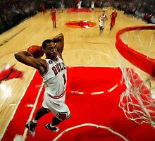 Chicago Bulls Derrick Rose by art-hammer