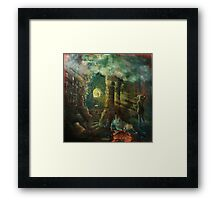 The double-slit experiment in antiquity. Framed Print