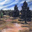 Cypress and Sand, Wyperfeld National Park by Avril E Jean