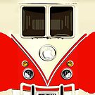Red Volkswagen VW cartoons iphone 5, iphone 4 4s, iPhone 3Gs, iPod Touch 4g case by pointsalestore Corps
