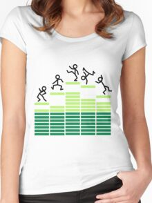 Dancing on the Equalizer Women's Fitted Scoop T-Shirt