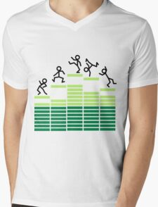 Dancing on the Equalizer Mens V-Neck T-Shirt