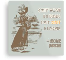 Vintage Fashion Print with Witty Woman Quote Metal Print