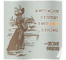 Vintage Fashion Print with Witty Woman Quote Poster