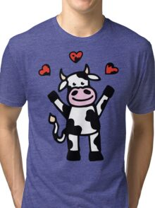 The Cow is in Love Tri-blend T-Shirt