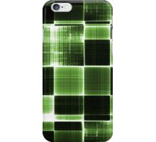 Grey black and White Green iPhone Case/Skin