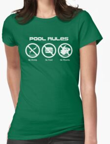 Pool Rules Womens Fitted T-Shirt