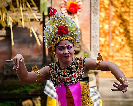 Traditional Dancer, Bali by Vince Russell