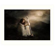 girl with sword Art Print