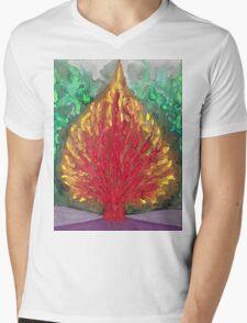 Flame Mens V-Neck T-Shirt
