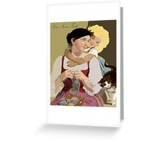 Love Never Fails Vintage Poster Art Greeting Card