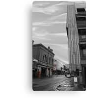 Beetham Tower Manchester, Urban street. Canvas Print