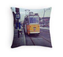 Budapest City Tram Throw Pillow