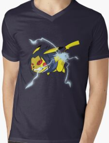 Pikachidori Mens V-Neck T-Shirt