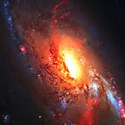 Spiral Galaxy M106 iPhone case by Dennis Melling