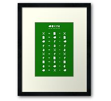 Rock Paper Scissors Lizard Spock Framed Print