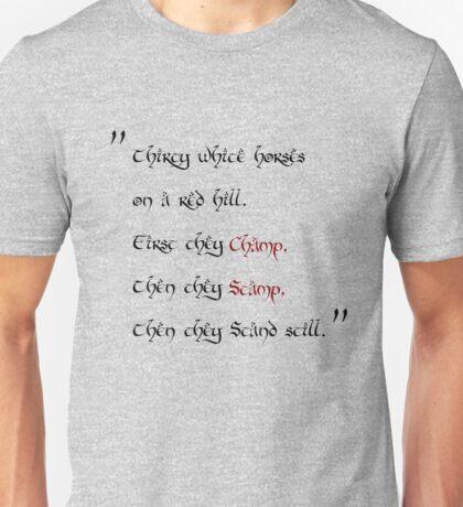 thirty white horses Unisex T-Shirt