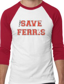 Save Ferris (red) Men's Baseball ¾ T-Shirt