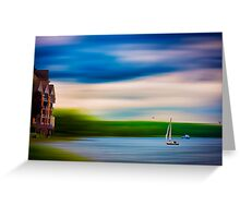Summer idyll on the Maas in the Netherlands Greeting Card