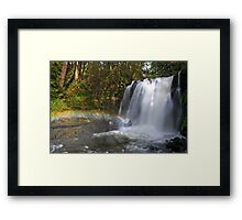 Rainbow by Majestic Falls Framed Print