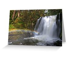 Rainbow by Majestic Falls Greeting Card