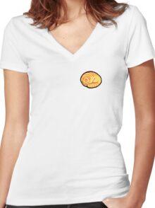 Round Golden Women's Fitted V-Neck T-Shirt