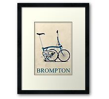 Brompton Folding Bike Framed Print