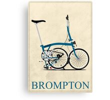 Brompton Folding Bike Canvas Print