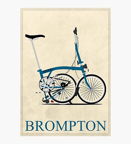 Brompton Folding Bike Photographic Print