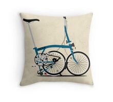 Brompton Folding Bike Throw Pillow