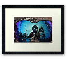 Reflected and distorted Framed Print
