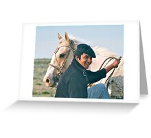 A Working Gaucho and his Steed Greeting Card
