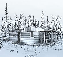 Stump Sitters Original Deer Camp (Side View) by Jack G Brauer