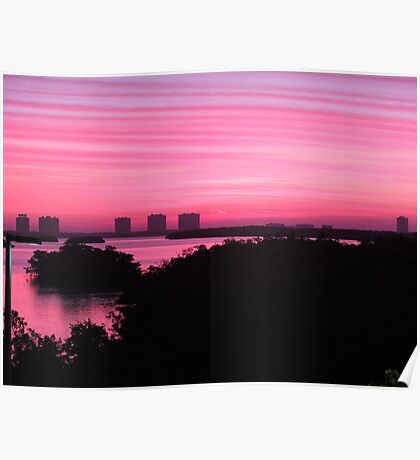 Sunrise at Cape Coral, USA Poster
