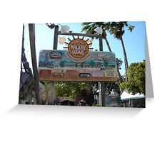 Mallory Square Greeting Card