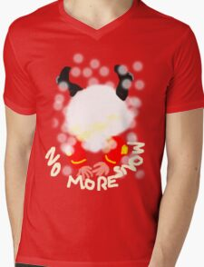 NO MORE SNOW  TEE SHIRT/KIDS TEE Mens V-Neck T-Shirt
