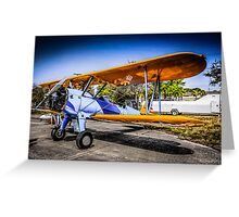 WWII US Army Air Corp PT-17 Steerman training Plane Greeting Card
