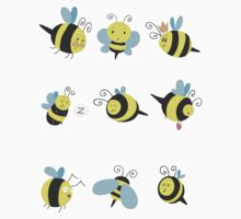Nine Cute Little Bumblebees by SaradaBoru