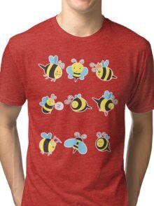 Nine Cute Little Bumblebees Tri-blend T-Shirt
