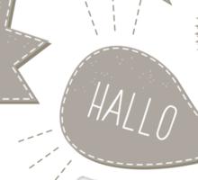 hola! hi! hello! hallo! Sticker
