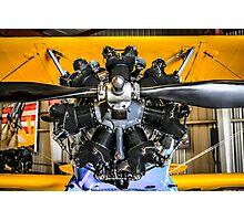 Radial Engine on a PT17 Stearman bi-plane Photographic Print