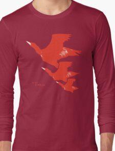 Persona 4 Yosuke Hanamura shirt (red birds) Long Sleeve T-Shirt