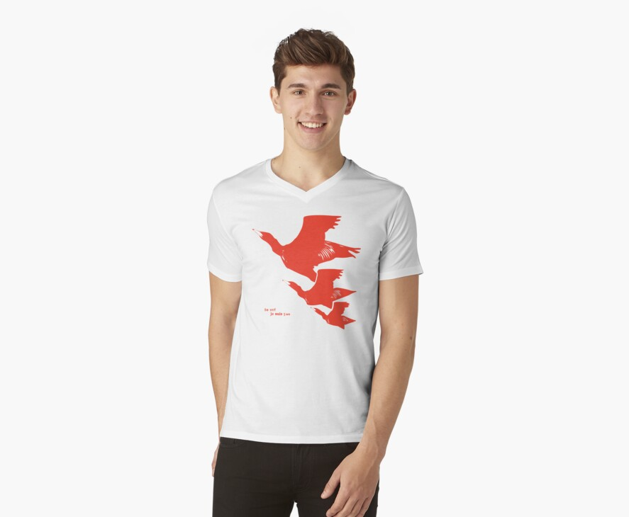 Persona 4 Yosuke Hanamura shirt (red birds) by vergil