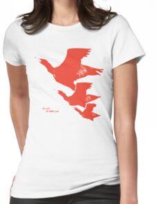 Persona 4 Yosuke Hanamura shirt (red birds) Womens Fitted T-Shirt