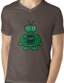 Mini Robot Mens V-Neck T-Shirt