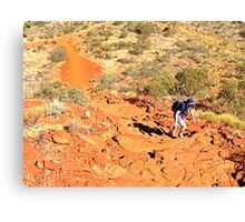 Climbing to the top Kings Canyon Rim Walk Canvas Print