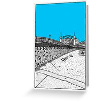 Brighton seafront in blue Greeting Card